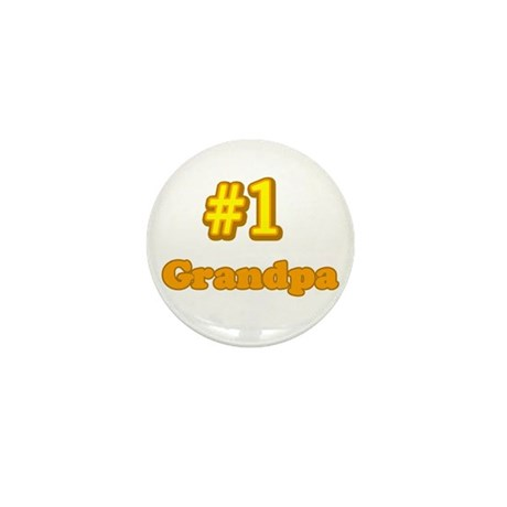 #1 Grandpa Mini Button