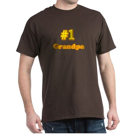 #1 Grandpa Black T-Shirt