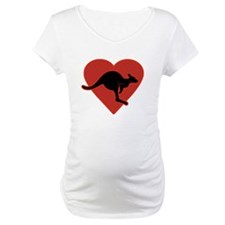 Kangaroo Love Red Heart Shirt