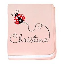 Ladybug Christine baby blanket
