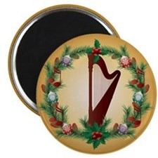 Christmas Harp Music Magnet