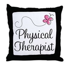 Cute Physical Therapist Throw Pillow