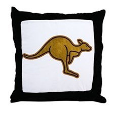 Kangaroo Logo Throw Pillow
