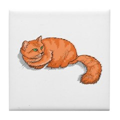 Ginger Cat Tile Coaster