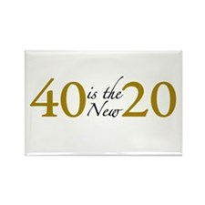 40 is the new 20 (Cougar) Rectangle Magnet (10 pac