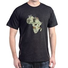 african wildlife Black T-Shirt