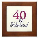 40 and Fabulous Framed Tile