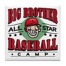 Big Brother Baseball Red Tile Coaster