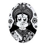 Kali Flower Ornament (Oval)