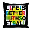 Girls Softball Throw Pillow