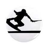 "Unique Wakeboard silhouette 3.5"" Button (100 pack)"