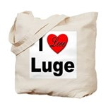 I Love Luge Tote Bag