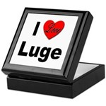 I Love Luge Keepsake Box