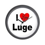 I Love Luge Wall Clock