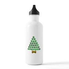 Dog's Christmas Tree Water Bottle