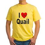 I Love Quail Yellow T-Shirt