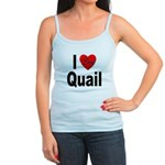 I Love Quail Jr. Spaghetti Tank