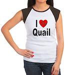 I Love Quail (Front) Women's Cap Sleeve T-Shirt