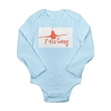 F-six-teeny -pink Long Sleeve Infant Bodysuit