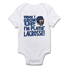 Grow Up Lacrosse Blue Infant Bodysuit