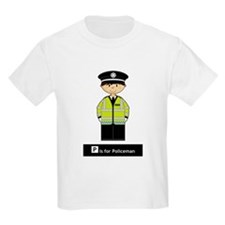 Cute British Policeman Kids T-Shirt