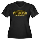 Pittsburgh Women's Plus Size V-Neck Dark T-Shirt