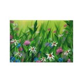 Flower Patch Rectangle Magnet