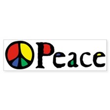Flowing 'Peace' Color Bumper Sticker