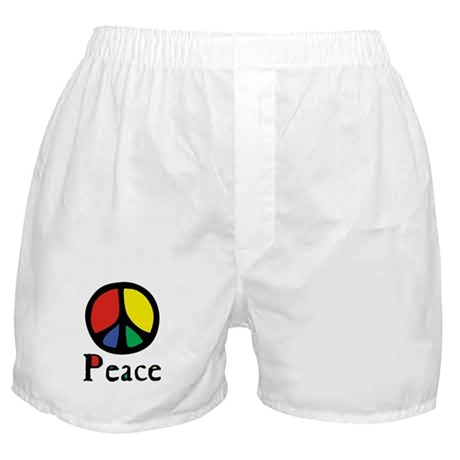Flowing 'Peace' Color Boxer Shorts