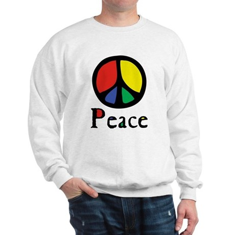 Flowing 'Peace' Color Men's Sweatshirt