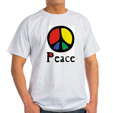 Flowing 'Peace' Color Men's Light T-Shirt