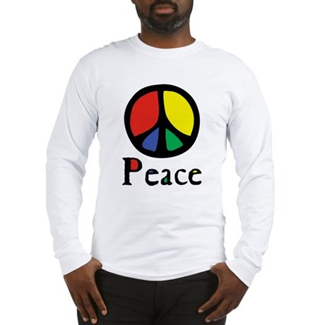 Flowing 'Peace' Color Men's Long Sleeve T-Shirt
