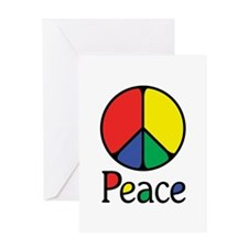 Elegant Colourful Peace Greeting Card
