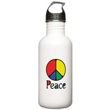 Emphatic Peace Colours Water Bottle
