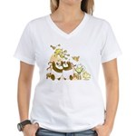 Happy Birthday, Robot! Women's V-Neck T-Shirt