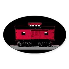 Little Red Caboose Oval Decal