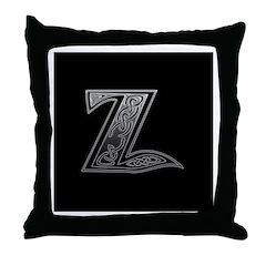 Z Monogram Throw Pillow