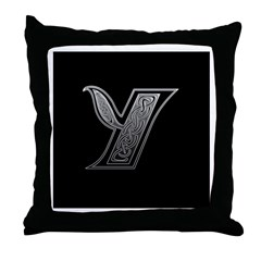 Y Monogram Throw Pillow