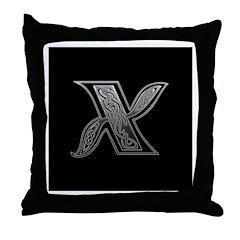 X Monogram Throw Pillow