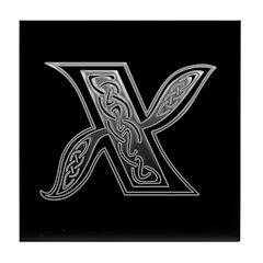 X Monogram Tile Coaster