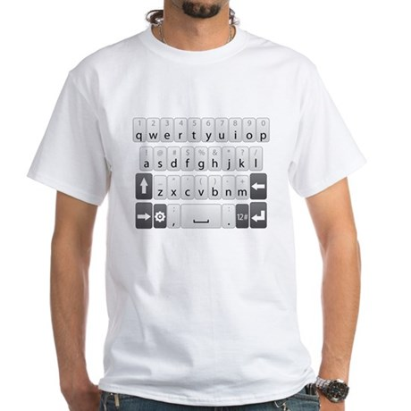 Qwerty Keyboard White T-Shirt
