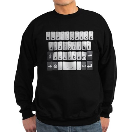 Qwerty Keyboard Sweatshirt (dark)