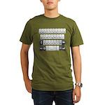Qwerty Keyboard Organic Men's T-Shirt (dark)