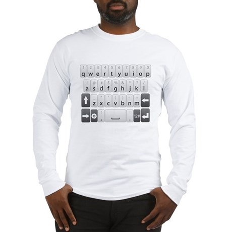 Qwerty Keyboard Long Sleeve T-Shirt
