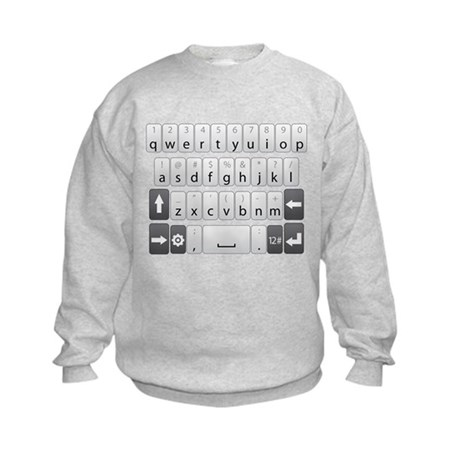 Qwerty Keyboard Kids Sweatshirt