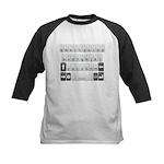 Qwerty Keyboard Kids Baseball Jersey