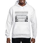 Qwerty Keyboard Hooded Sweatshirt