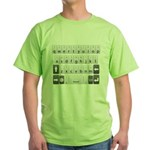 Qwerty Keyboard Green T-Shirt