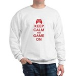 Keep Calm And Game On Sweatshirt