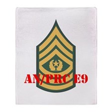 Command Sergeant Major Throw Blanket